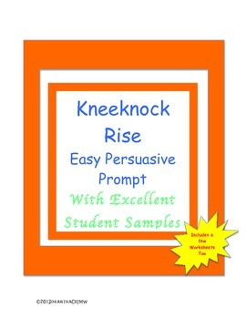 "KneeKnock Rise Persuasive Introduction: Worksheets;  & Do ""Get"" and Don't ""Get"""