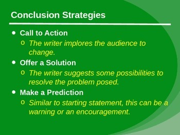 Persuasive Introductions and Conclusions