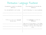 Persuasive Language Features Activity