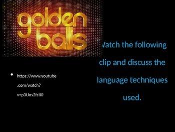 Persuasive Language - Goldenballs