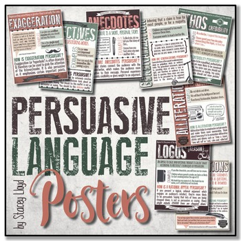 Persuasive Language Techniques POSTERS