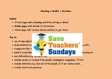 Persuasive Leaflets Lesson Plan, What to Include and Class Organisation
