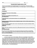 Persuasive Letter Body Paragraph Organizer