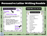 Persuasive Letter Chart and Sentence Stems Freebie