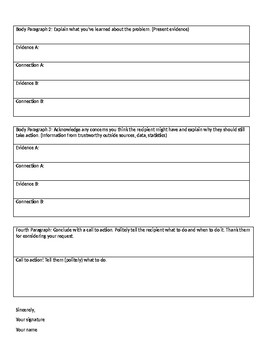Persuasive Letter Guided Outline