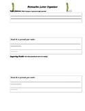 Persuasive Letter Organzer