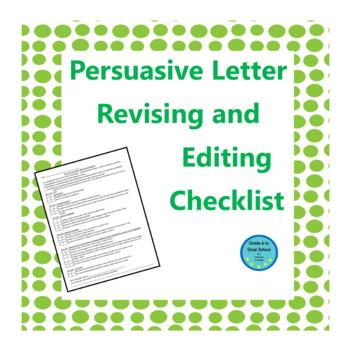 persuasive essay checklist for kids