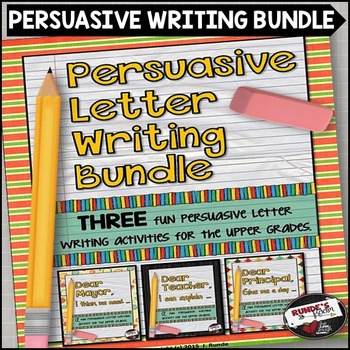 Persuasive Letter Writing Activity Bundle