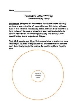 Persuasive Letter Writing: Pardon my Turkey
