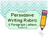Persuasive Letter Writing Rubric