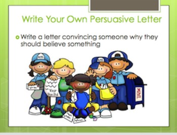 Persuasive Letter Writing Smart Notebook