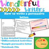 Persuasive Letter Writing Unit