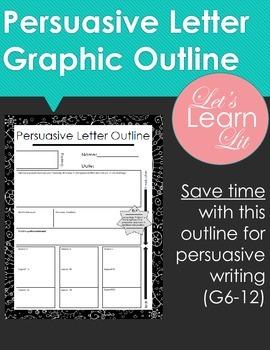 Persuasive Letter outline