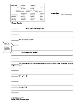 persuasive letter to santa student template