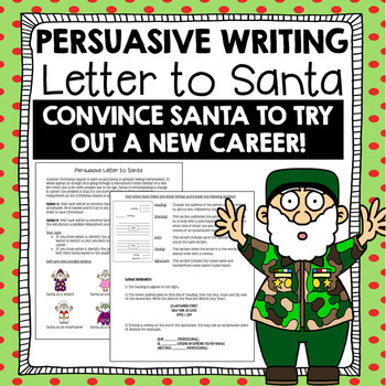 Christmas Writing Activity: Persuasive Letter to Santa