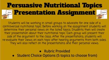 Nutrition Debate Topics