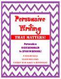 Persuasive Opinion Letter Writing - Stay In School -Bellringer - Mini lesson