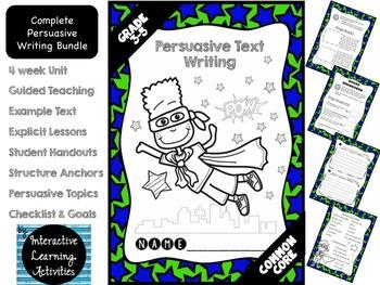 Persuasive Opinion Writing: Fun Super Hero Unit {Common Core Aligned}