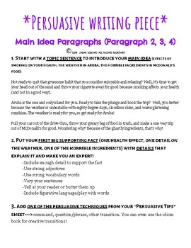 Tips on writing an argumentative essay
