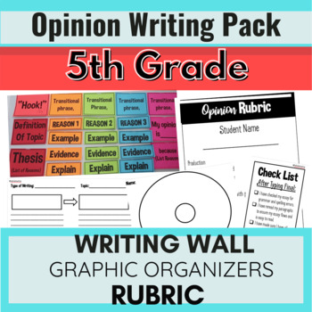 Persuasive Opinion Writing PACK! 5th Grade!