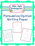 Persuasive/Opinion Writing Paper for Writing Workshop