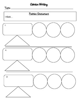 Persuasive / Opinion Writing Planning and Drafting Packet