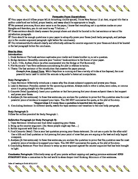 Persuasive Paper Outline