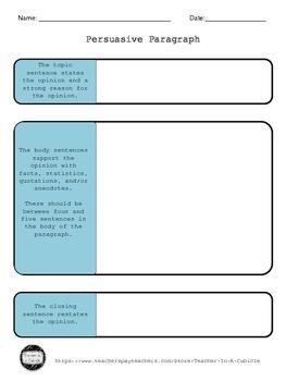 Persuasive Paragraph Outline