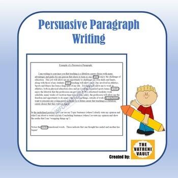 Persuasive Paragraph Writing