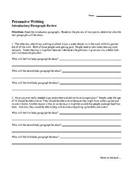 Persuasive Paragraphs Detection
