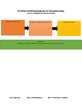 Persuasive PreWriting Graphic Organizer Level 1-2