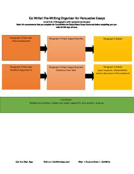 Persuasive PreWriting Graphic Organizer Level 3-6