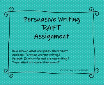 Persuasive RAFT Assignment