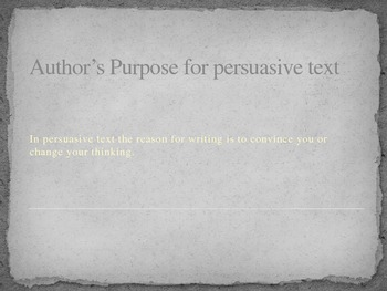 Persuasive Reading and Writing Terms and Practice