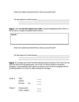 Persuasive/ Research Online Writing Project
