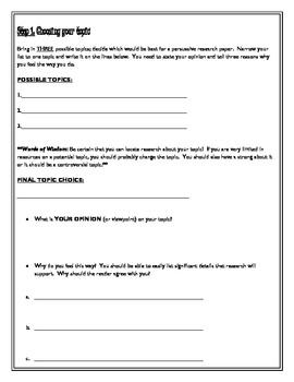 Buy research paper guidelines for middle school