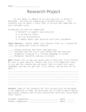 Persuasive Research Project Assignment with Rubric and Outline