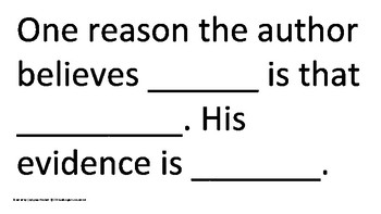Persuasive Sentence Frames