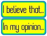 Persuasive Sentence Starters - Bulletin Board