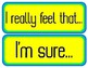 Persuasive Sentence Starters Signs for Wall or Bulletin Board