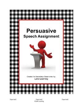 Persuasive Speech Assignment