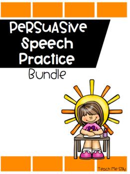 Persuasive Speech Bundle