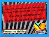 Persuasive Speech & Visual Aid Project with Rubric