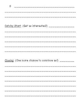 Persuasive Speech Writing Note Taking Sheets