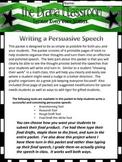 Persuasive Speech Writing Packet