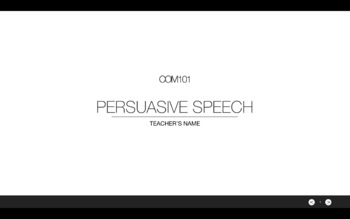 Persuasive Speech lesson with grading system suitable for school/uni