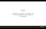 Persuasive Speech lesson with grading system suitable for
