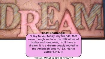 "Persuasive Speech using ""I Have a Dream."""