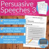 Persuasive Speeches Assessment: Pack 3