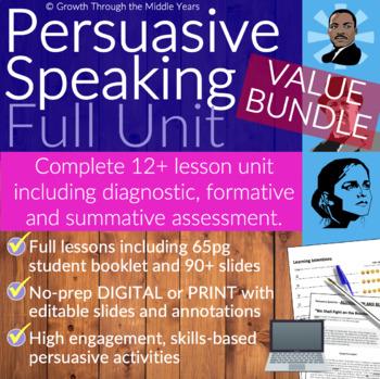 Persuasive Speeches: FULL UNIT